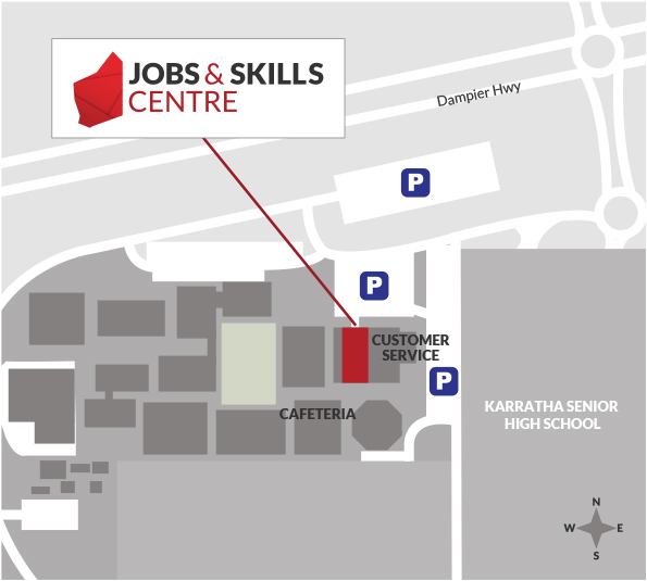 A map of the Karratha TAFE campus