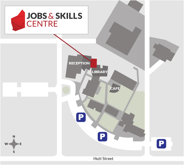 A map of the Northam TAFE campus.