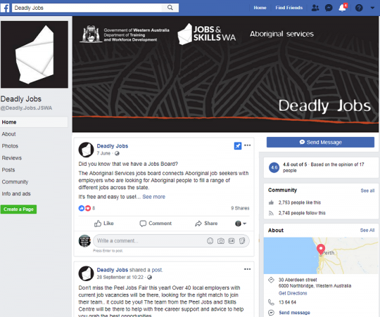 Deadly Jobs Facebook page