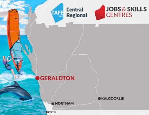 A location map for Geraldton JSC.