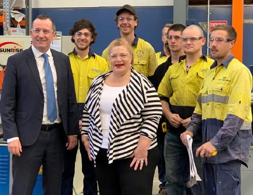 Premier McGowan and Minister Ellery opening Henderson shipbuilding facility