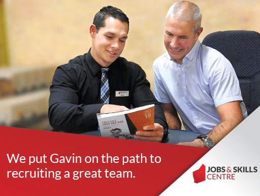 Gavin sat with Kieran from the Jobs and Skills Centre