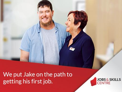 Jake at the Jobs and Skills Centre