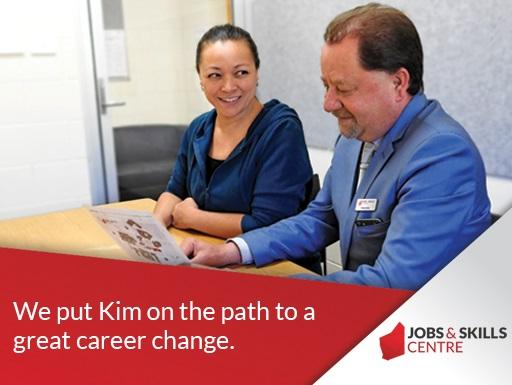 Kim at the Jobs and Skills Centre