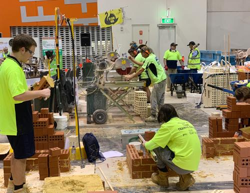 Worldskills competitors at Skills West expo