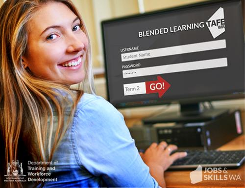A student online learning.