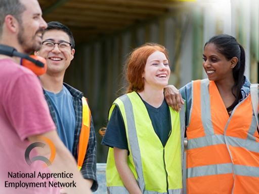 Apprentices with an employer.