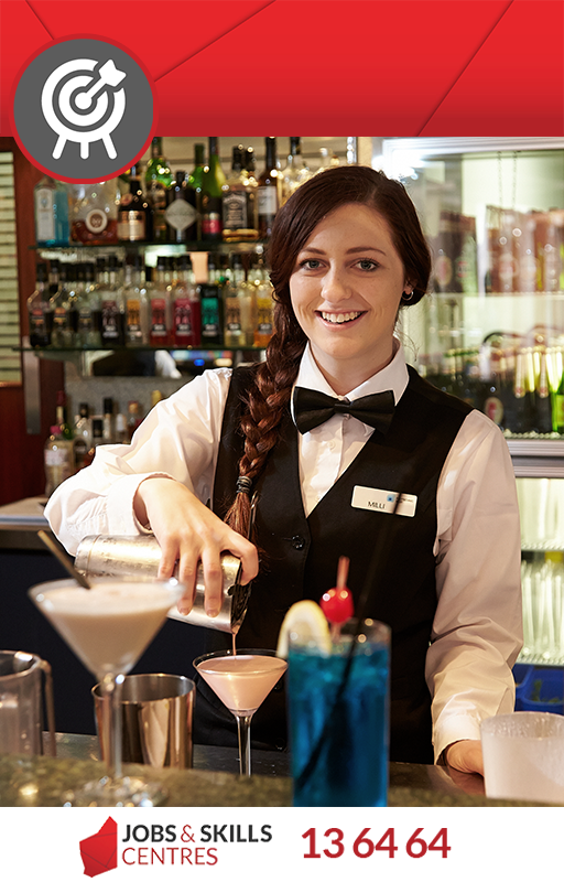 A skills ready person working in hospitality.