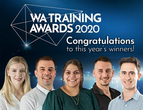 Image of all 2020 WA Training Award winners