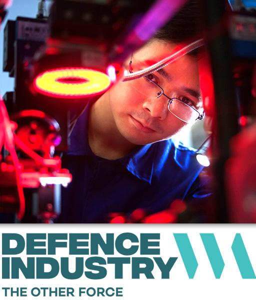 Working in the defence industry.