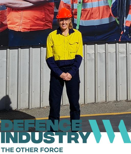 Kate Wilson in hi vis wear